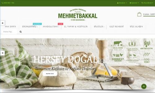 Mehmet Bakkal E-Ticaret Sitesi