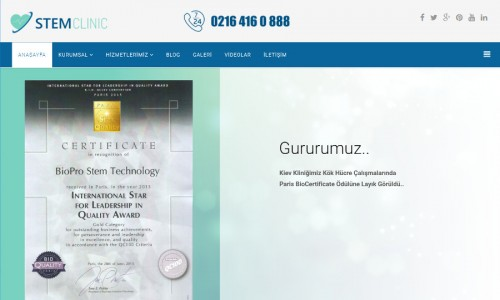 Stem Clinic Center A.Ş. İnternet Sitesi