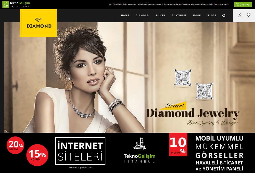 E-Ticaret Sitesi Estetik Tasarım 01