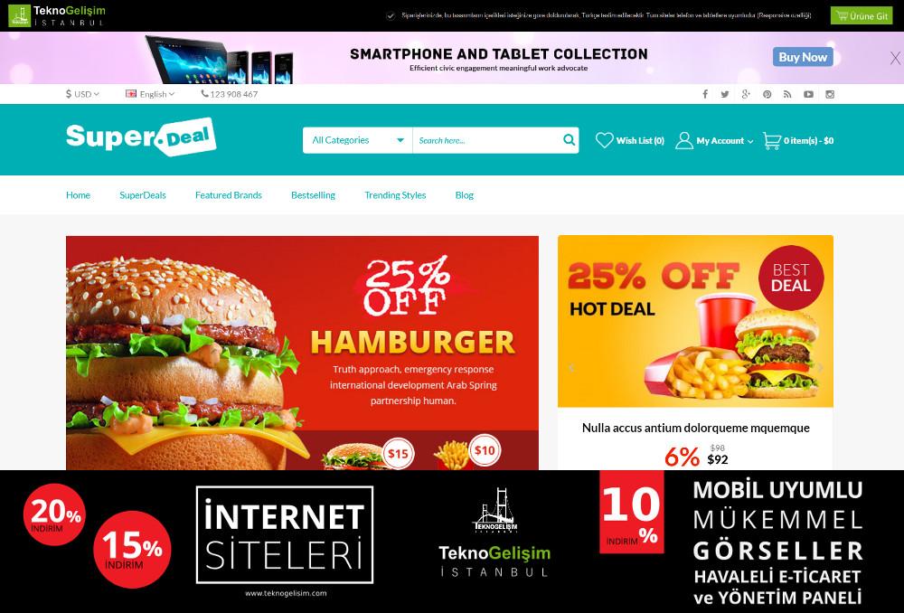 E-Ticaret Sitesi Sektöre Özel Tasarım 56