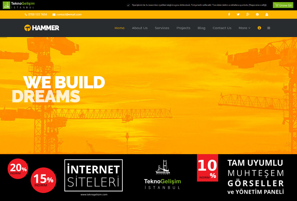 Kurumsal Site Sektöre Özel Tasarım 09