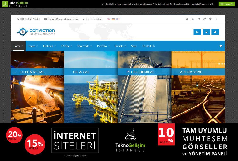 Kurumsal Site Sektöre Özel Tasarım 20