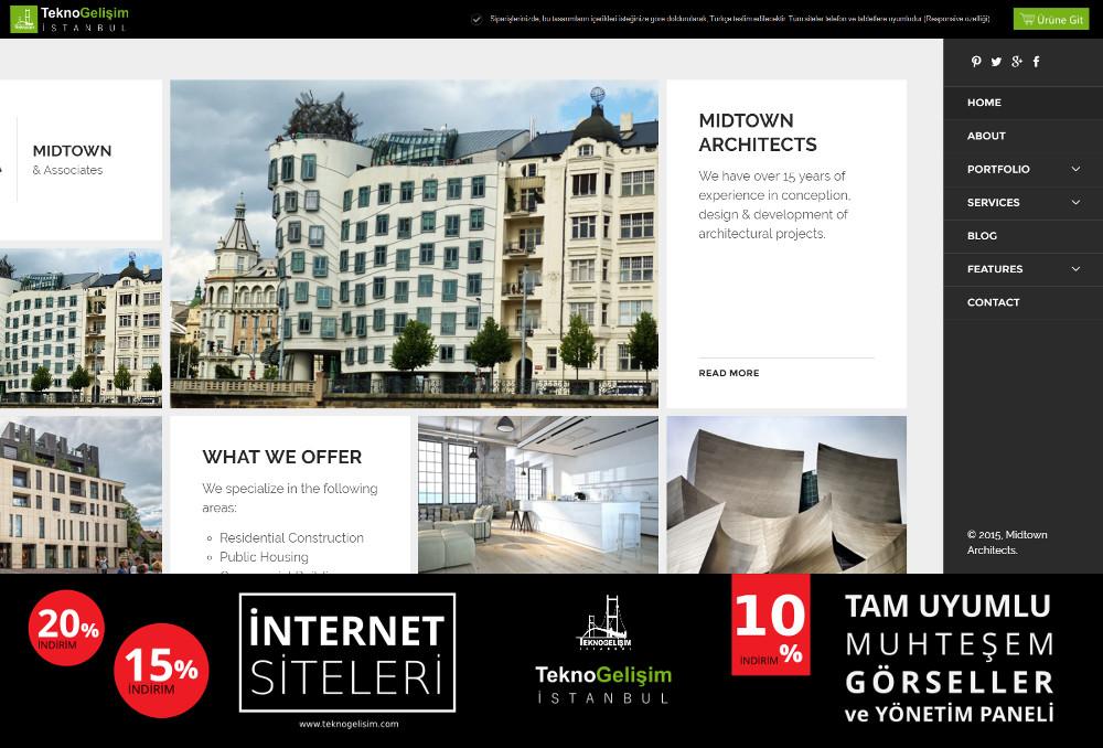 Kurumsal Site Estetik Tasarım 14 (Yan Menülü)