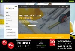 Kurumsal Site Sektöre Özel Tasarım 43 (Yan Menülü)