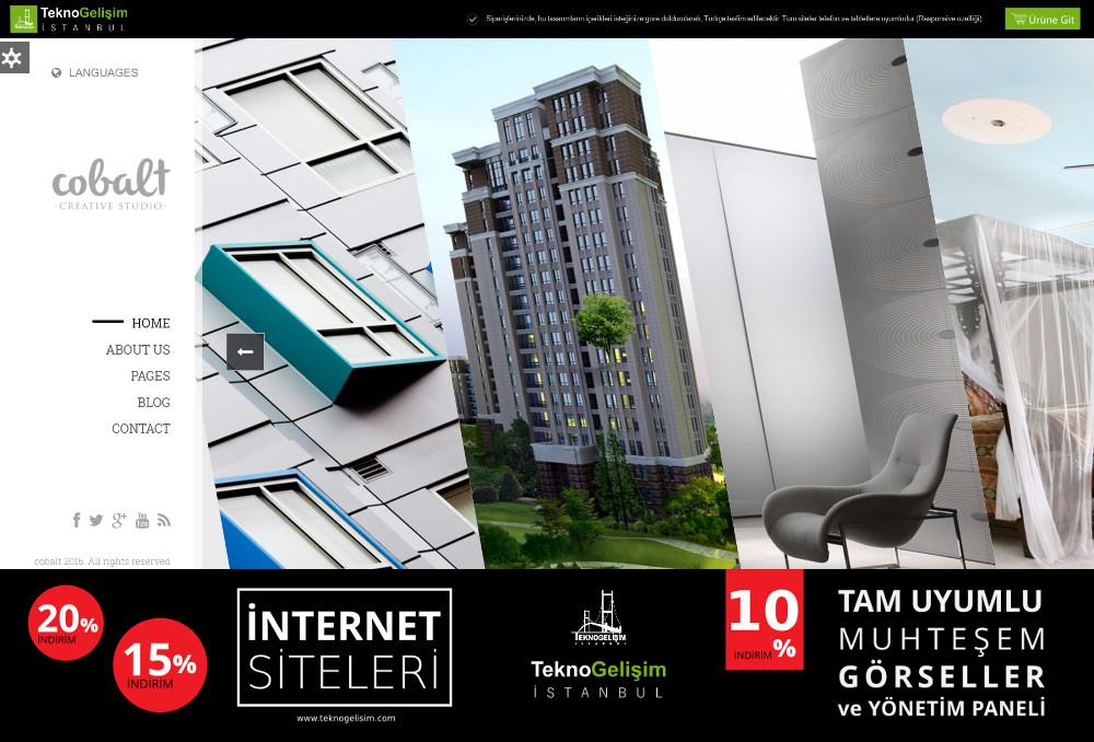 Kurumsal Site Sektöre Özel Tasarım 46 (Yan Menülü)