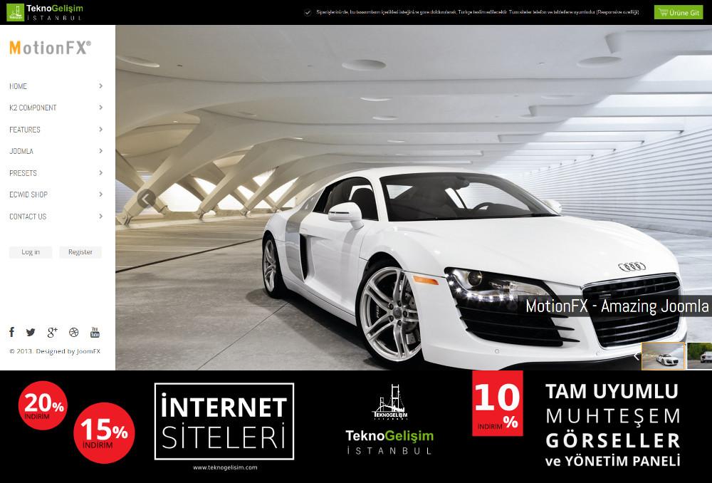 Kurumsal Site Sektöre Özel Tasarım 47 (Yan Menülü)