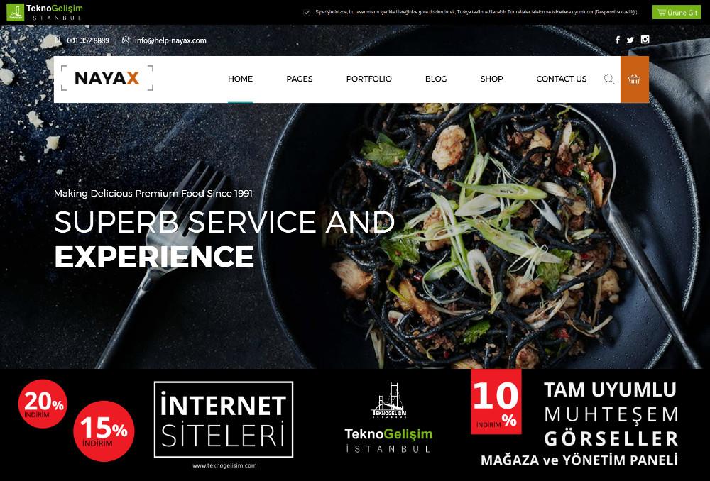 Ürün Tanıtımlı Site Sektöre Özel Tasarım 02