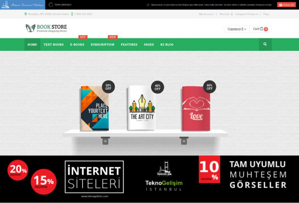 Ürünlü Sektöre Özel Tasarım 03 - Kurumsal Site