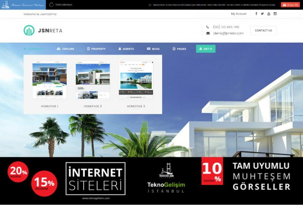 Ürün Tanıtımlı Site Sektöre Özel Tasarım 05 (Kurumsal Siteler Görünümlü)