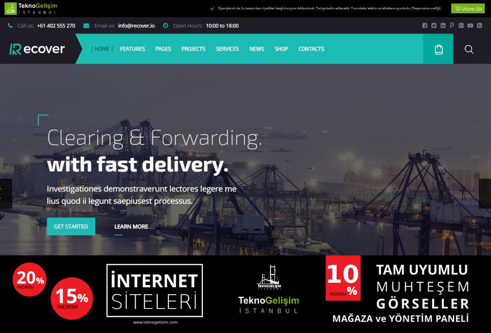 Ürün Tanıtımlı Site Estetik Tasarım 03