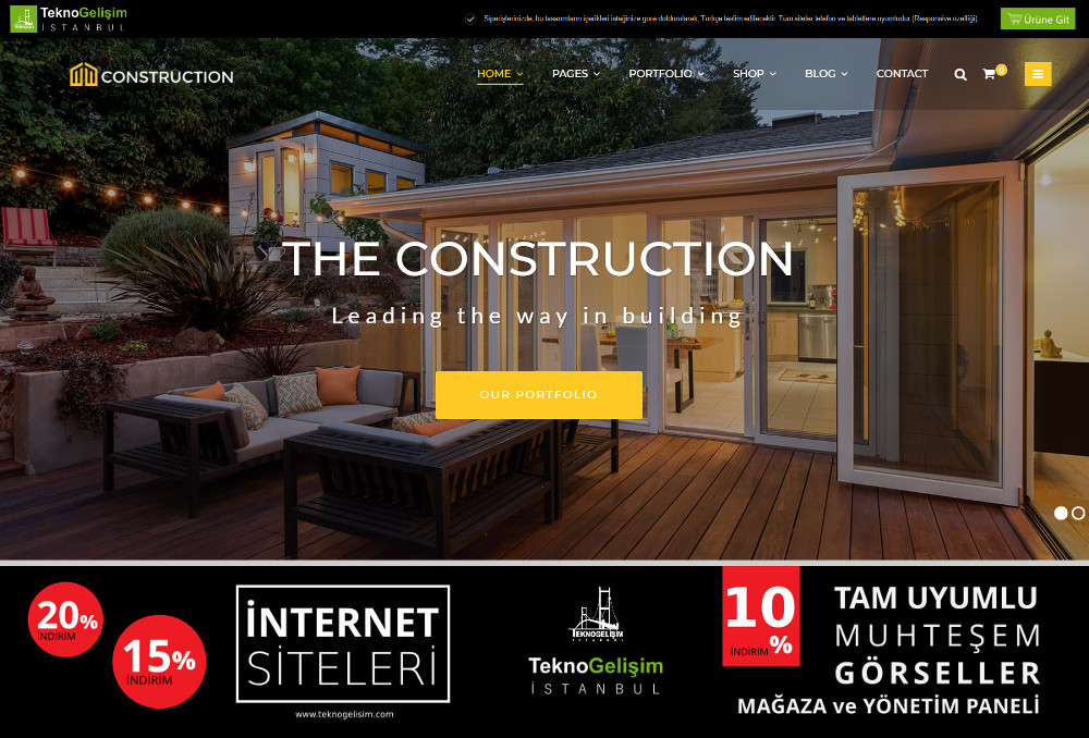 Ürünlü Sektöre Özel Tasarım 08 - Kurumsal Site (Tam Tanıtım Görünümlü)