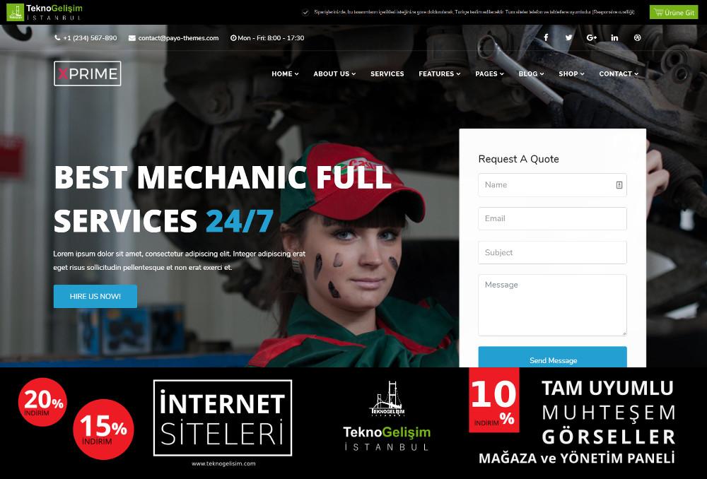 Ürün Tanıtımlı Site Sektöre Özel Tasarım 11