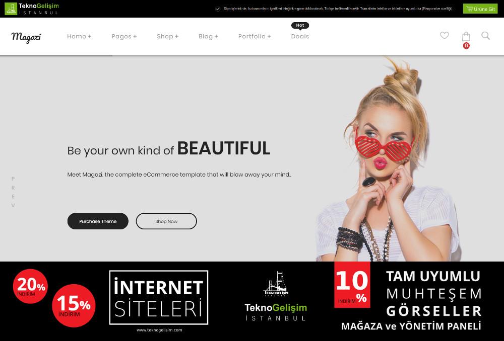 Ürün Tanıtımlı Site Sektöre Özel Tasarım 13