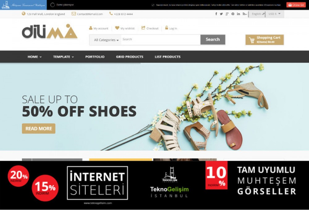 Ürün Tanıtımlı Site Sektöre Özel Tasarım 14