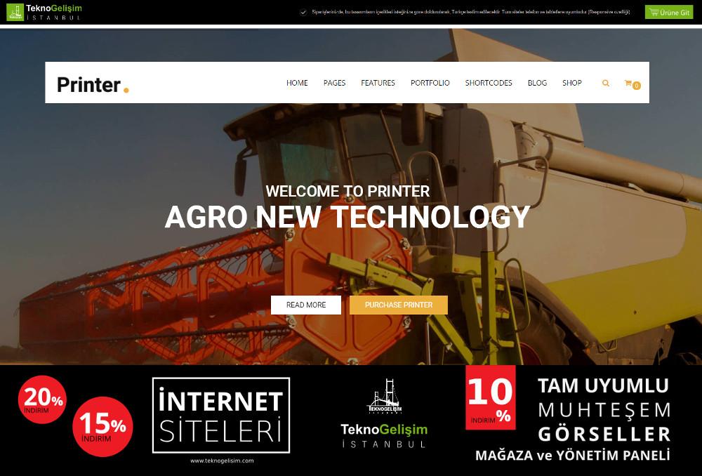 Ürün Tanıtımlı Site Sektöre Özel Tasarım 15