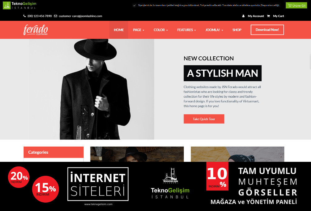 Ürünlü Estetik Tasarım 15 - Kurumsal Site