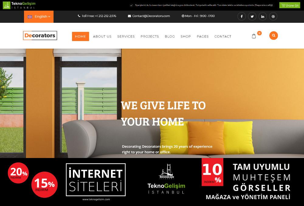 Ürün Tanıtımlı Site Sektöre Özel Tasarım 28