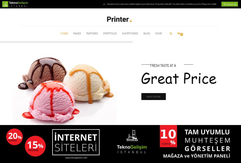 Ürünlü Sektöre Özel Tasarım 36 - Kurumsal Site