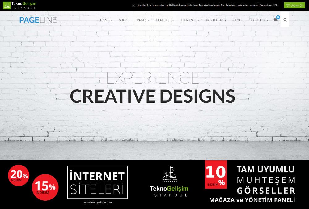 Ürünlü Estetik Tasarım 24 - Kurumsal Site (Tam Tanıtım Görünümlü)