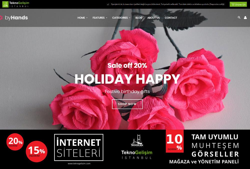 Ürün Tanıtımlı Site Sektöre Özel Tasarım 47 (Kurumsal Siteler Görünümlü)