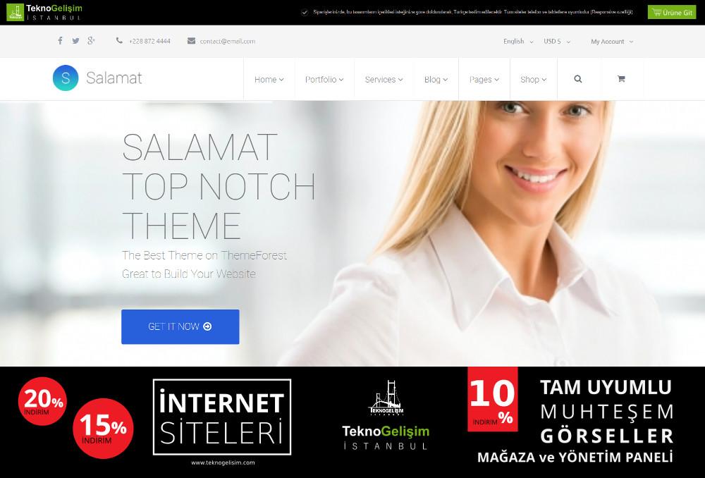 Ürün Tanıtımlı Site Sade Tasarım 10 (Kurumsal Siteler Görünümlü)