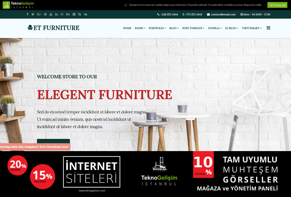 Ürünlü Sektöre Özel Tasarım 57 - Model Site
