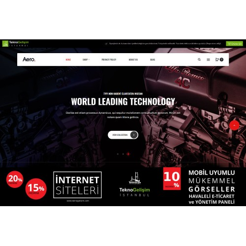E-Ticaret Sitesi Estetik Tasarım 08