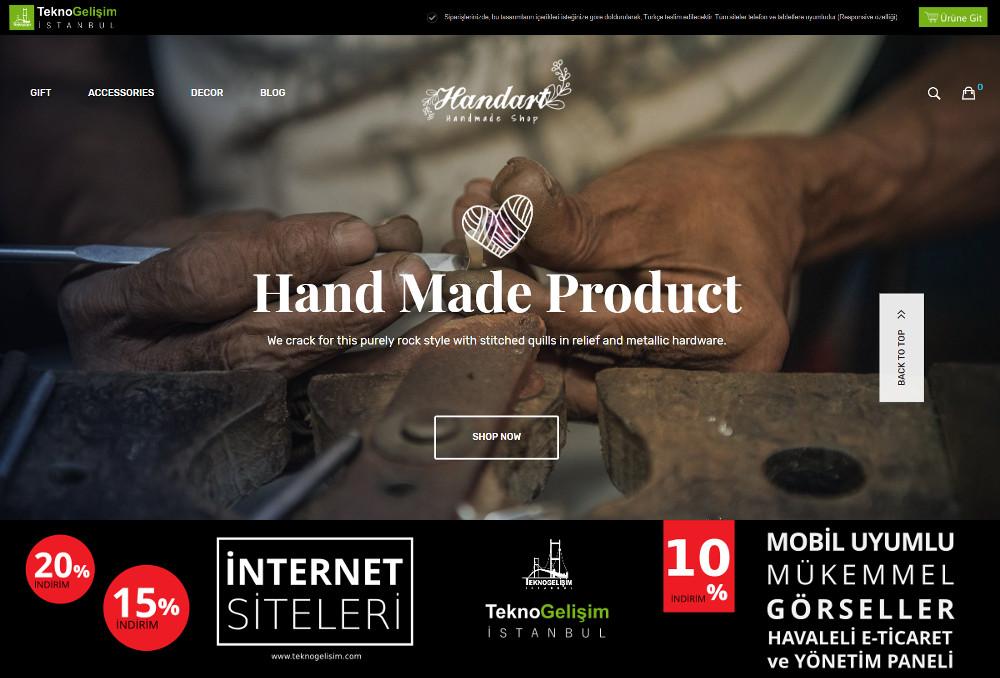 E-Ticaret Sitesi Estetik Tasarım 09