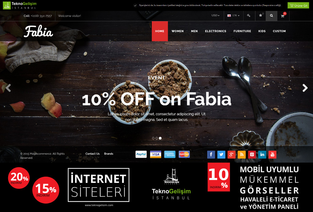 E-Ticaret Sitesi Estetik Tasarım 15 (Tam Ekranlı Anasayfa)