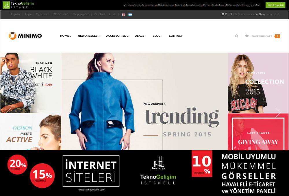E-Ticaret Sitesi Estetik Tasarım 19
