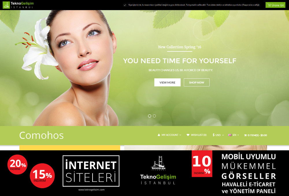 E-Ticaret Sitesi Estetik Tasarım 20