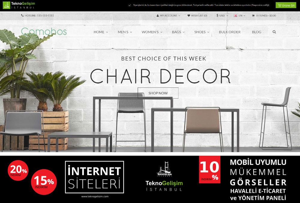 E-Ticaret Sitesi Estetik Tasarım 21
