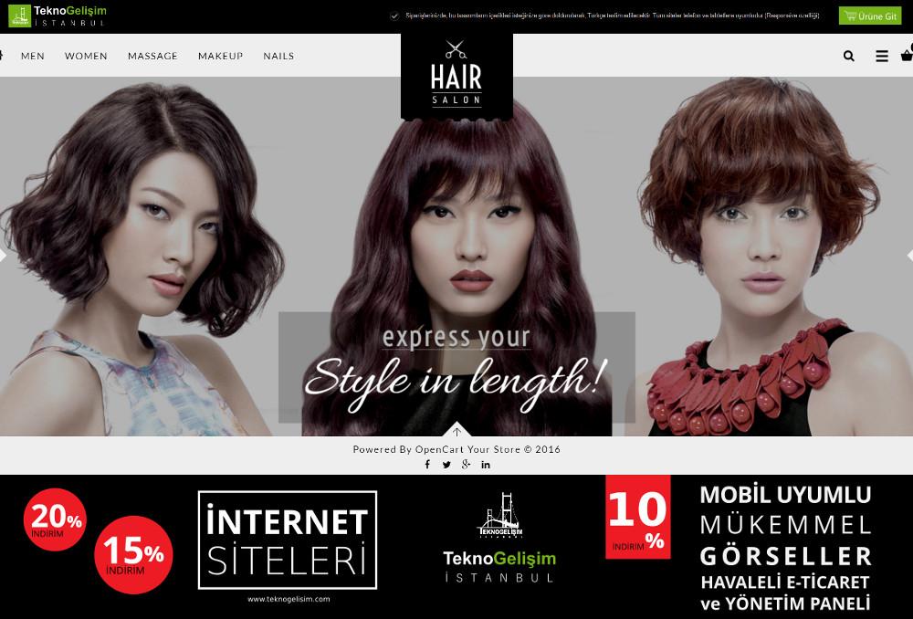 E-Ticaret Sitesi Estetik Tasarım 23 (Tam Ekranlı Anasayfa)