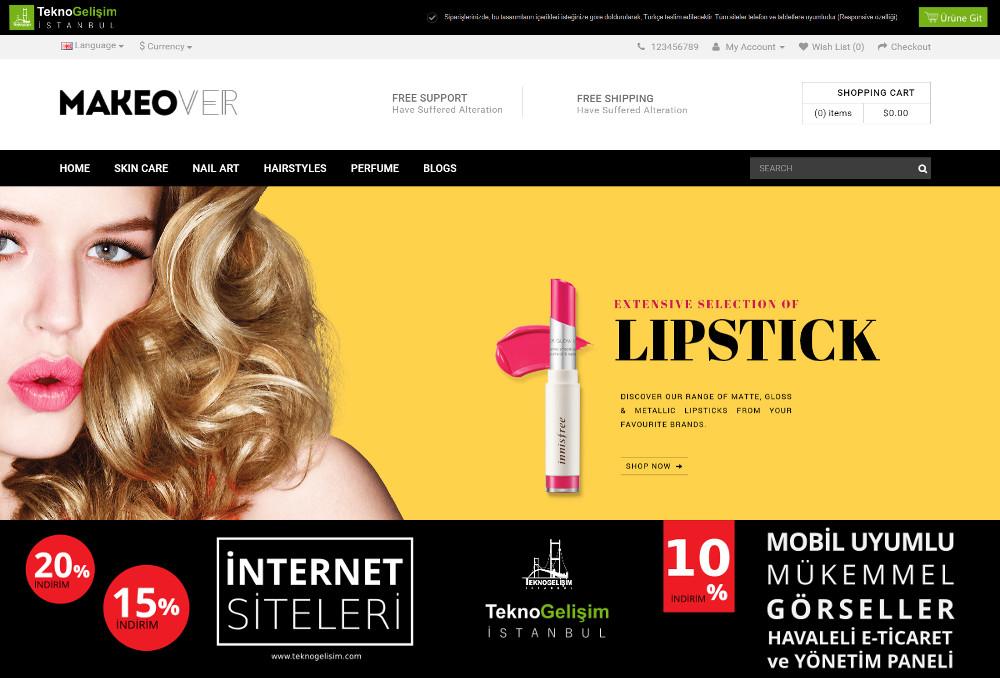 E-Ticaret Sitesi Sektöre Özel Tasarım 01