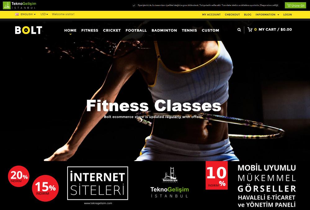 E-Ticaret Sitesi Sektöre Özel Tasarım 02