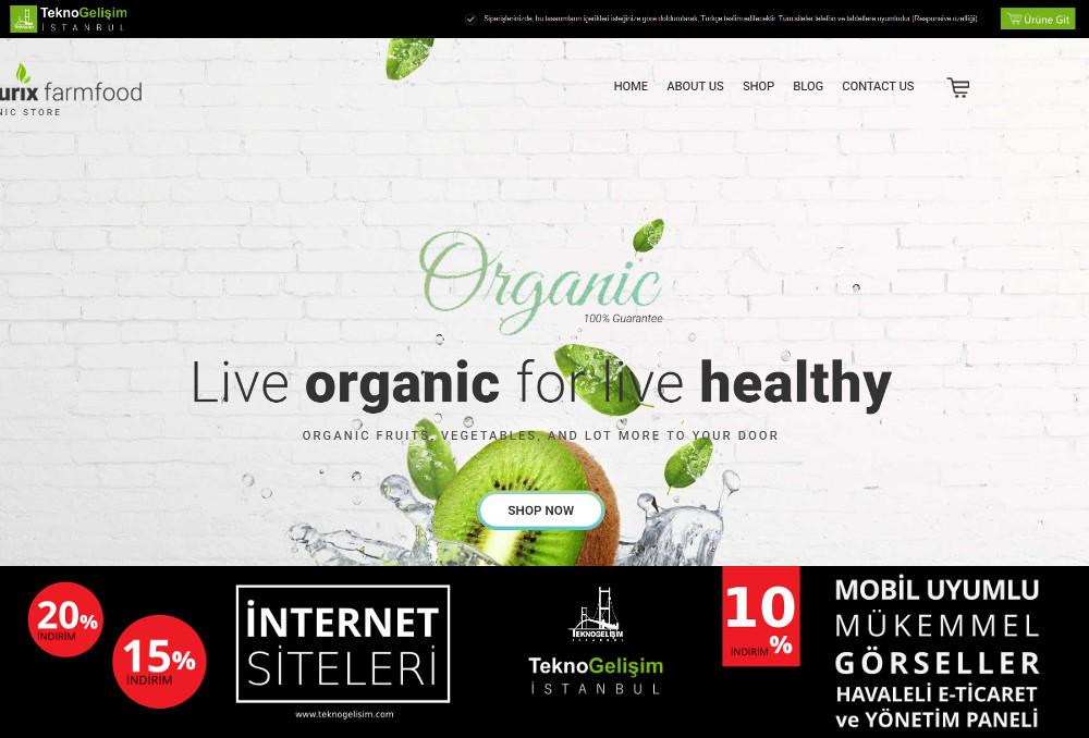 E-Ticaret Sitesi Sektöre Özel Tasarım 03