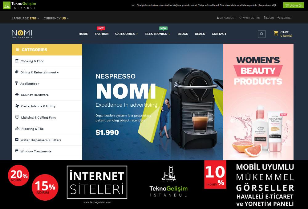 E-Ticaret Sitesi Sektöre Özel Tasarım 04