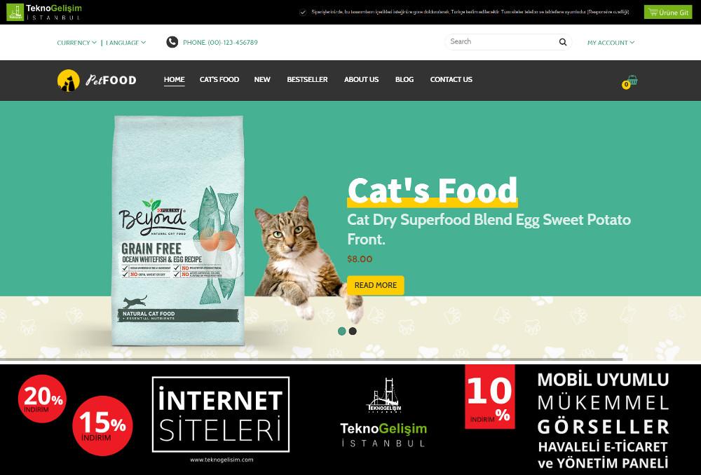 E-Ticaret Sitesi Sektöre Özel Tasarım 09