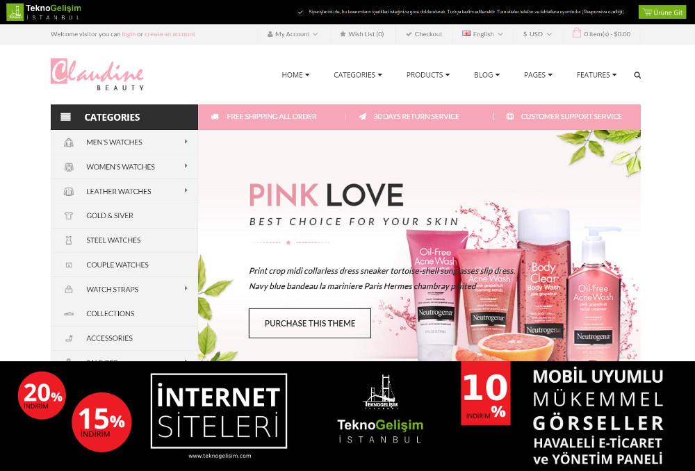 E-Ticaret Sitesi Sektöre Özel Tasarım 10