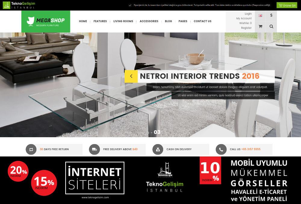 E-Ticaret Sitesi Sektöre Özel Tasarım 14