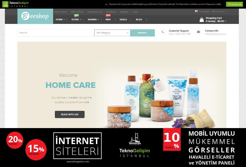 E-Ticaret Sitesi Sektöre Özel Tasarım 16