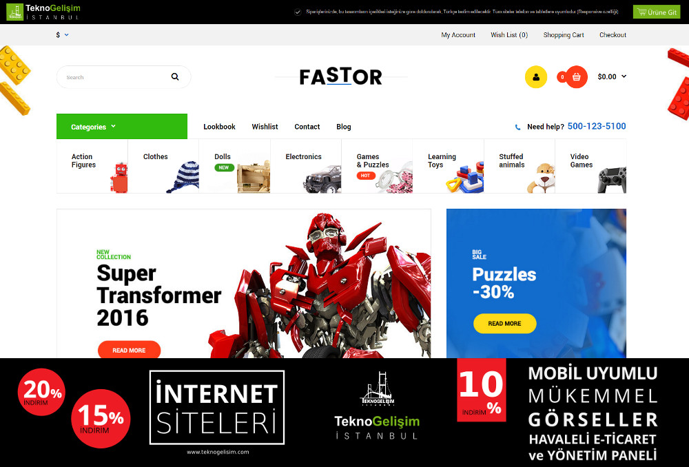 E-Ticaret Sitesi Sektöre Özel Tasarım 20