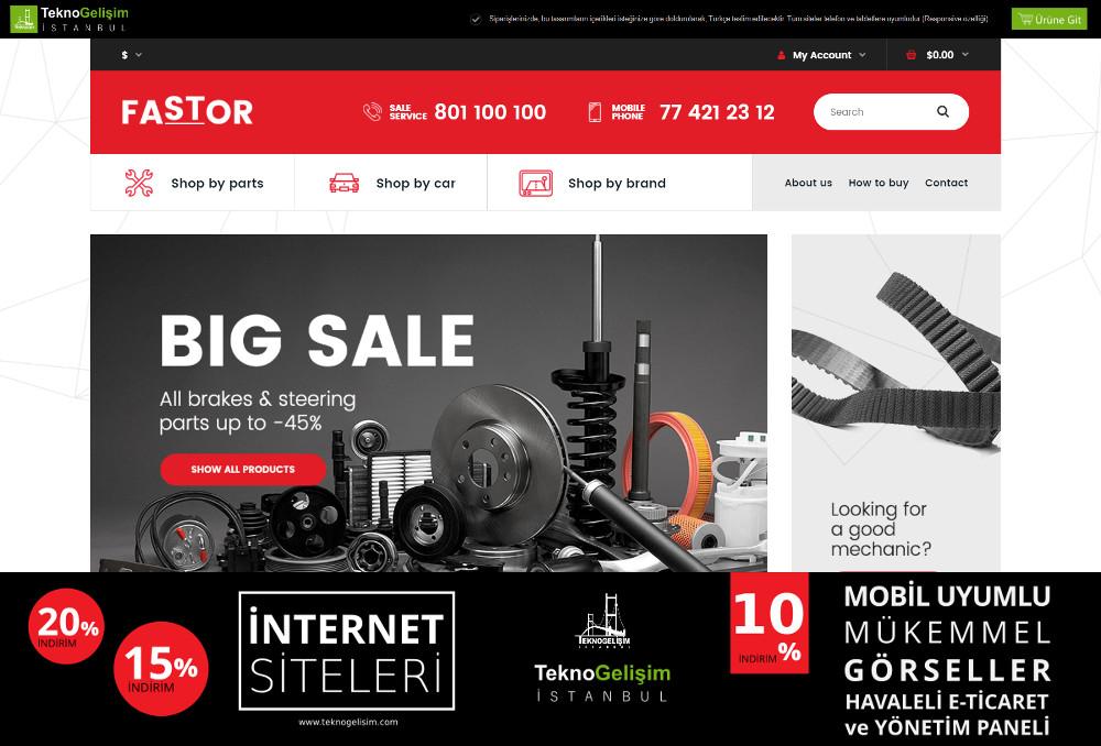 E-Ticaret Sitesi Sektöre Özel Tasarım 22