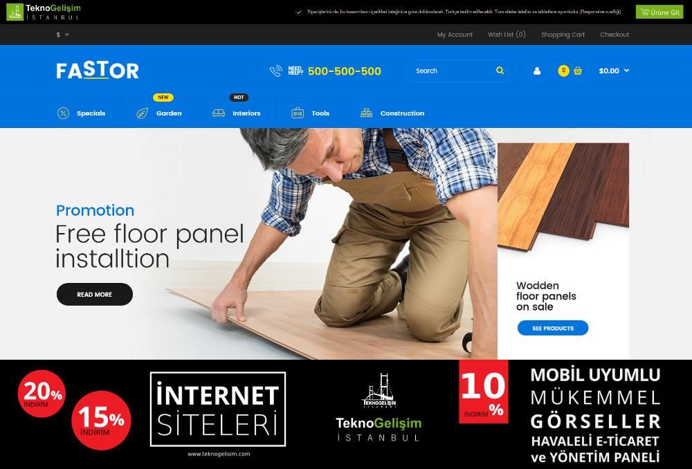 E-Ticaret Sitesi Sektöre Özel Tasarım 24