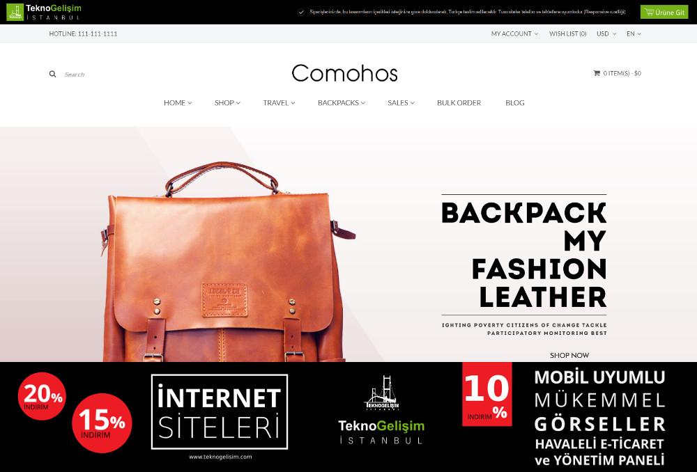 E-Ticaret Sitesi Sektöre Özel Tasarım 25