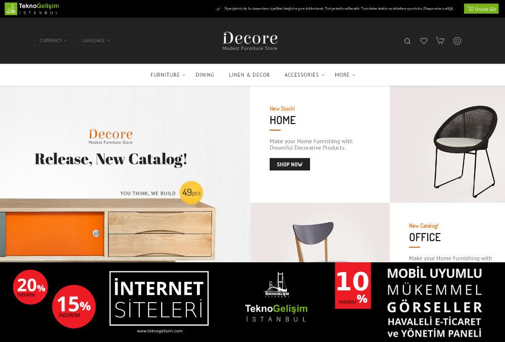 E-Ticaret Sitesi Sektöre Özel Tasarım 27