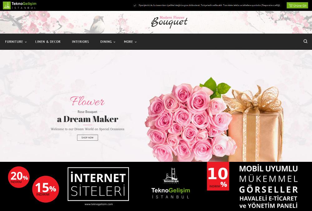 E-Ticaret Sitesi Sektöre Özel Tasarım 28