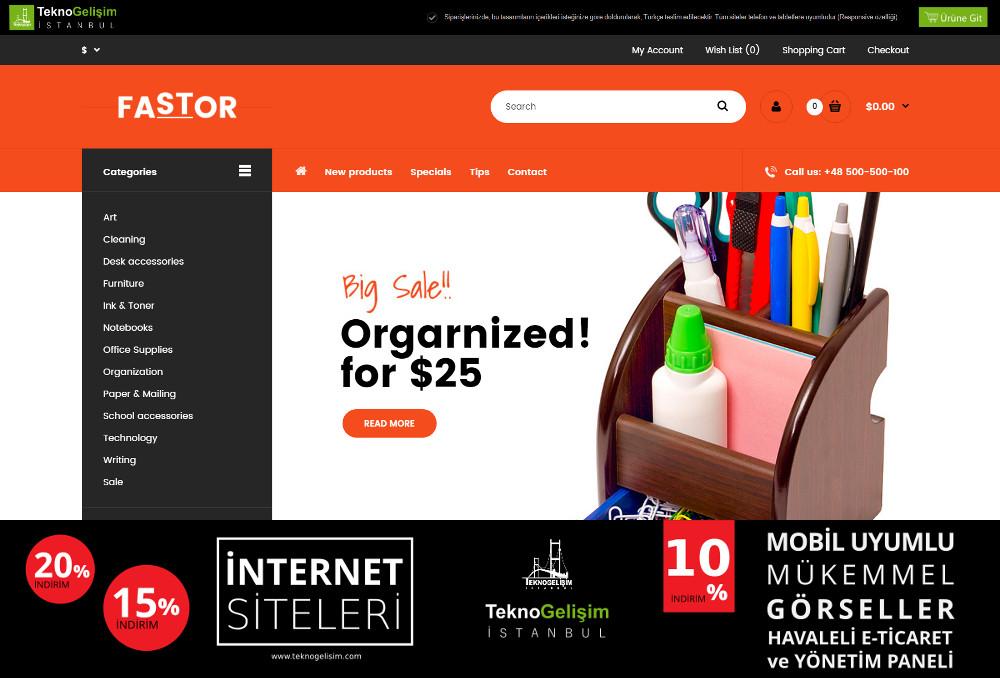 E-Ticaret Sitesi Sektöre Özel Tasarım 29