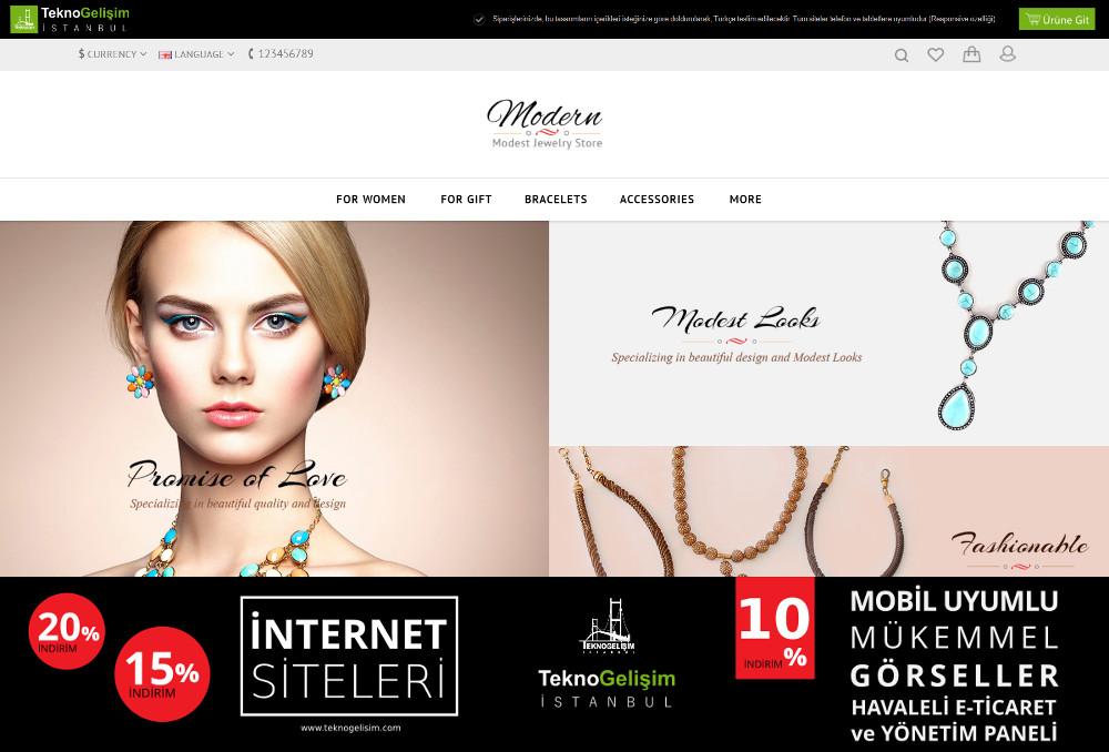 E-Ticaret Sitesi Sektöre Özel Tasarım 32
