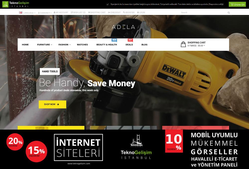 E-Ticaret Sitesi Sektöre Özel Tasarım 33